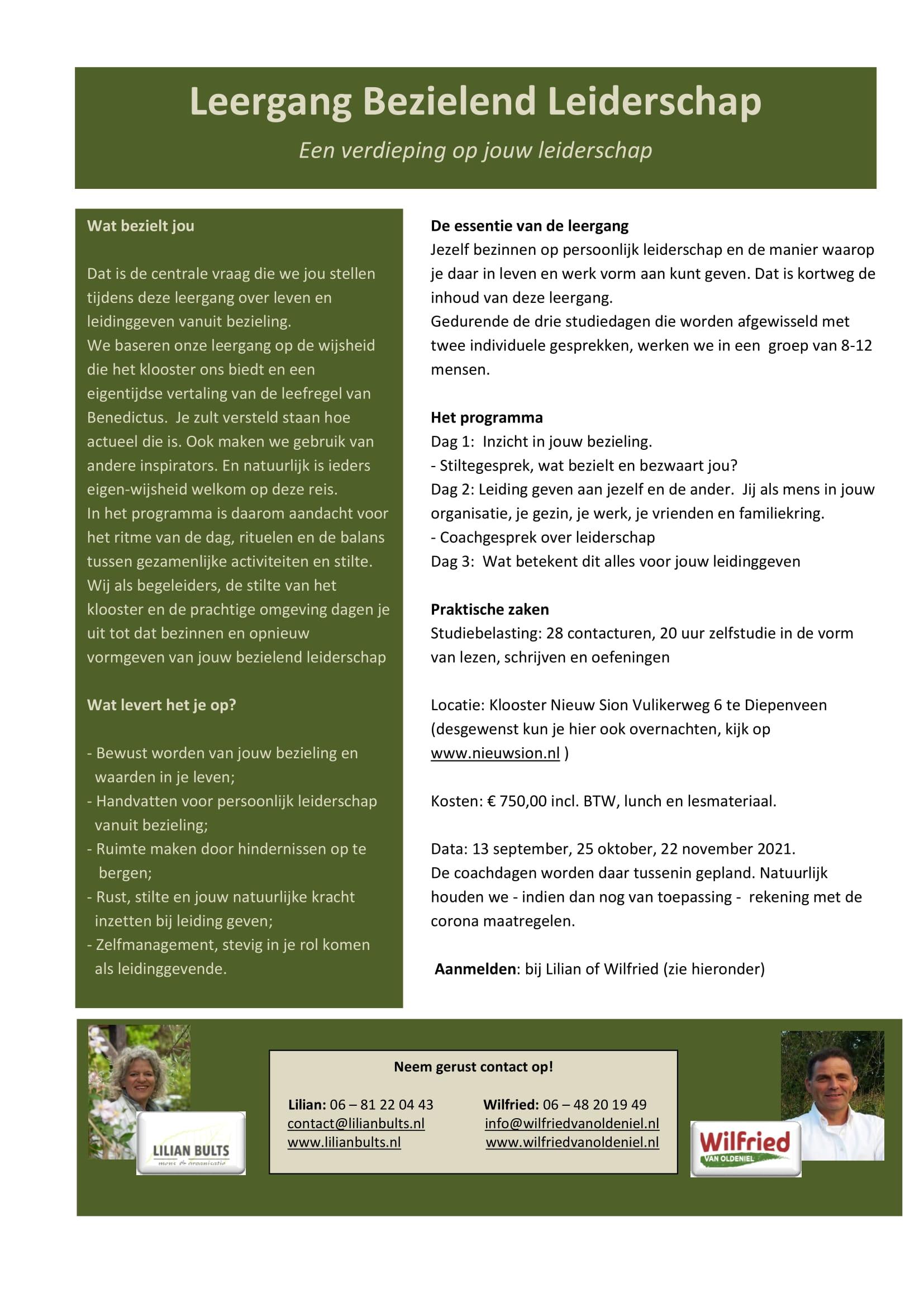 Flyer Leergang bezielend leiderschap - Groen DEF-1